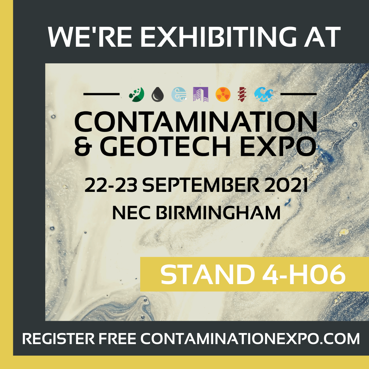 Visit us at the Contamination & Geotech Expo - 22 & 23 September 2021