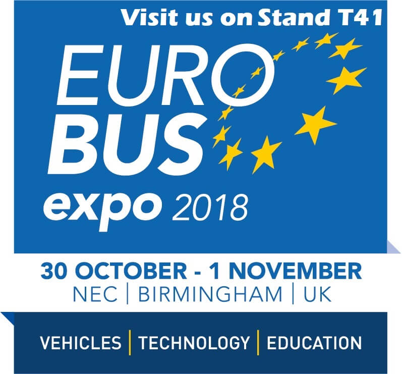 Euro Bus Expo 2018 - Visit Us on Stand T41 in the Technology Zone