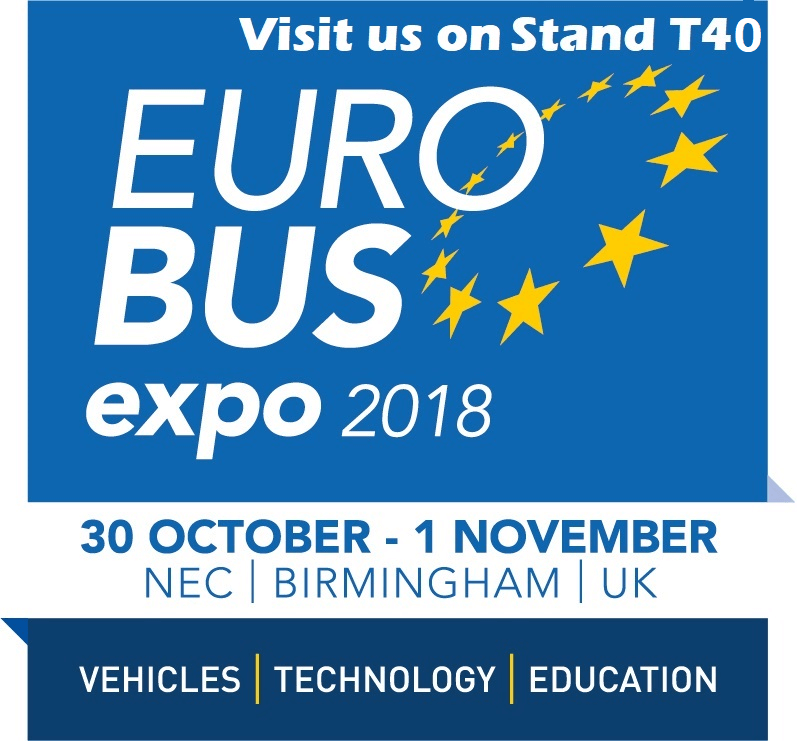 Euro Bus Expo 2018 - Visit Us on Stand T40 in the Technology Zone
